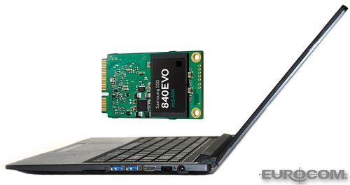 Eurocom Armadillo With 1 TB Samsung 840 EVO mSATA SSD