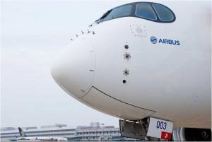 Airbus A350 XWB test aircraft in Singapore