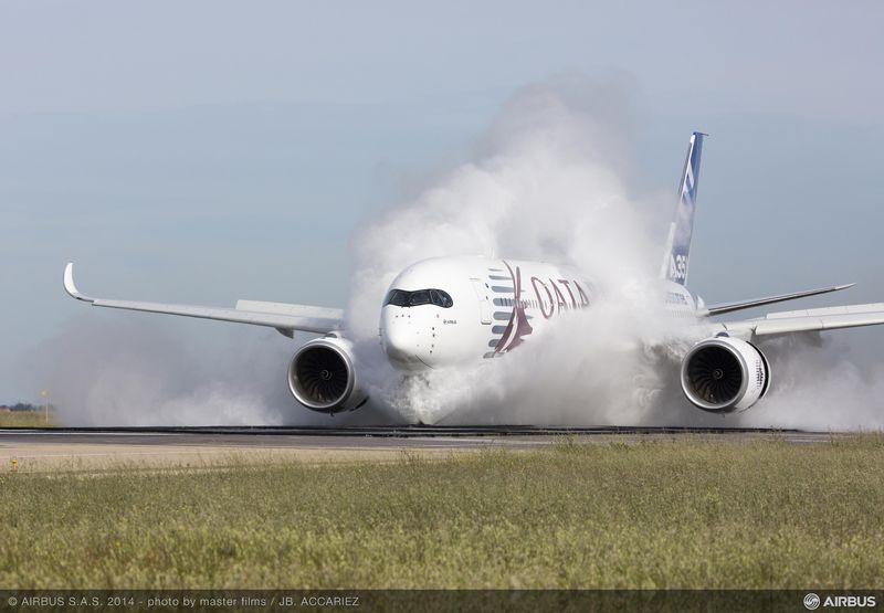 A350 XWB water ingestion test