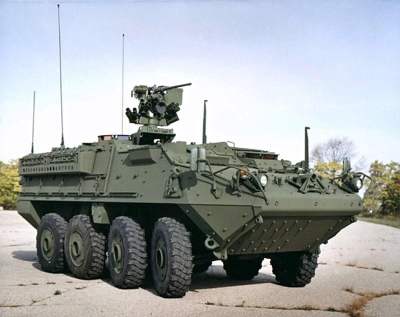 Stryker infantry combat vehicles