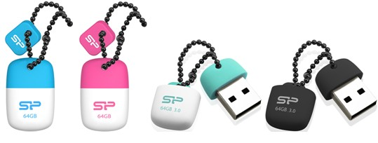 SP/ Silicon Power Launches USB 2.0 Touch T07 & USB 3.0 Jewel J07 Mini USB Flash Drives