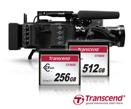 Transcend Introduces CFast 2.0 CFX650/600 Memory Cards