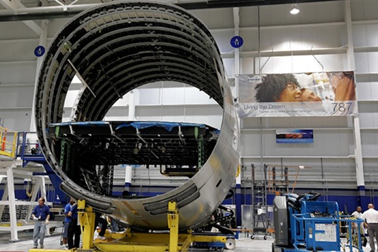final assembly of the 787-10