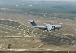 Paratrooping trials of the A400M