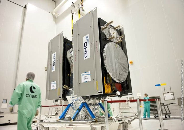 Twin Galileo navigation satellites