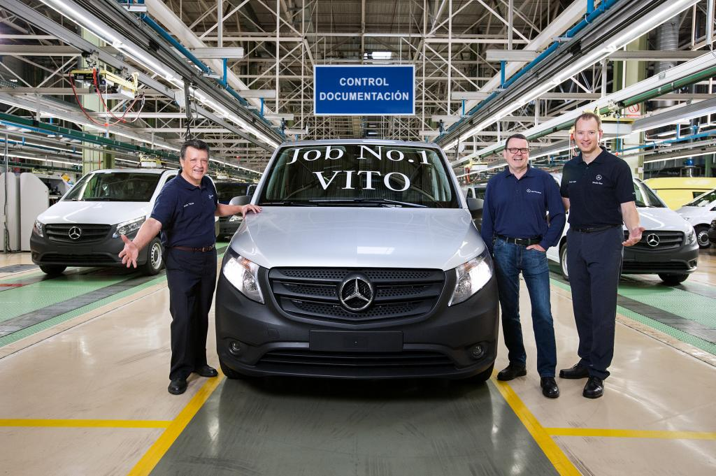 new Vito at the Mercedes-Benz plant