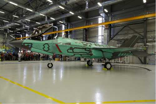 Italy's First F-35A Lightning II Rolled Out Of Cameri Production Facility