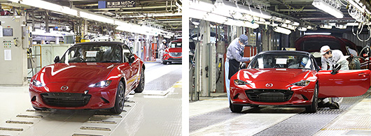 Mazda MX-5 off the production line