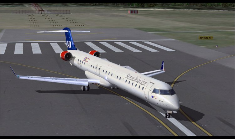 CRJ900 Aircraft in SAS Livery