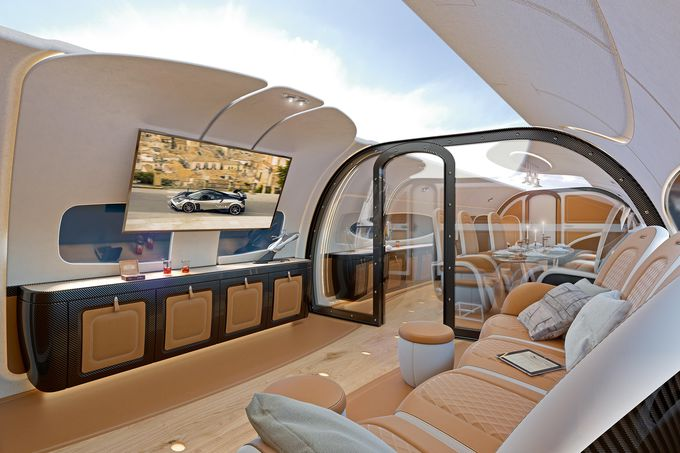 Airbus Corporate Jets And Pagani Announce Infinito Cabin