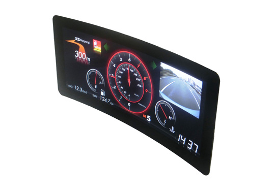 Curved Color TFT-LCD