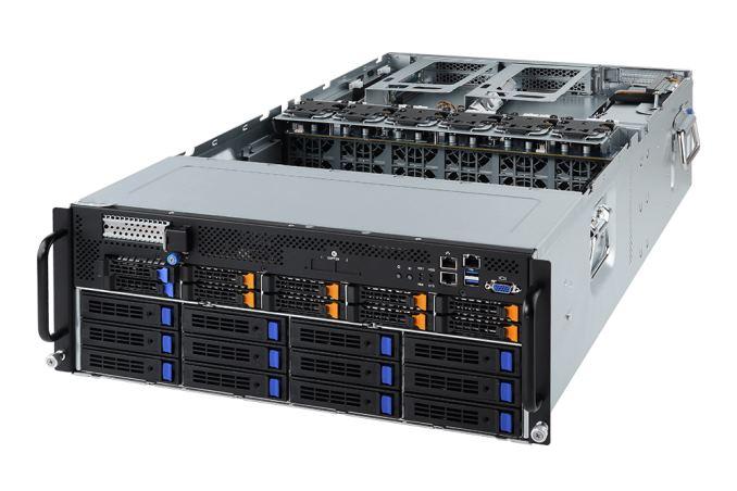 GIGABYTE New 1U 4 GPU