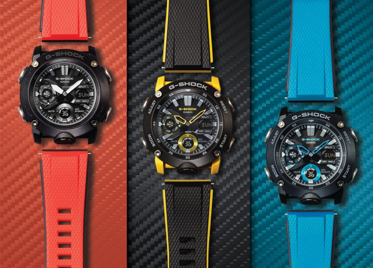 Casio G-SHOCK Introduces New Timepieces To Men's G-Carbon Series