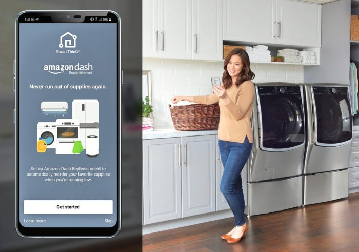 LG THINQ WITH AMAZON DASH